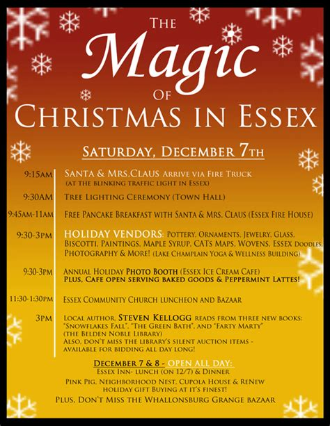 celebrate christmas in essex this saturday essex on lake