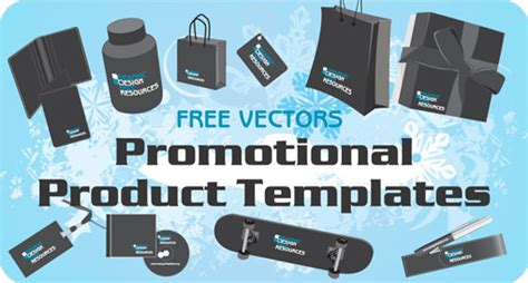 Marketing Giveaway Products - free vectors promotional product templates designfreebies
