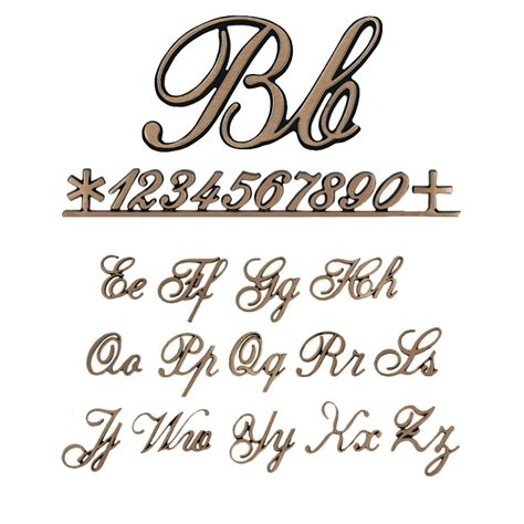 lettere in corsivo per lettere e numeri corsivo 2000 2 7cm caratteri singoli o