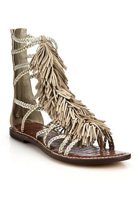 sam edelman fringe sandals sam edelman sam edelman gisela fringed metallic leather