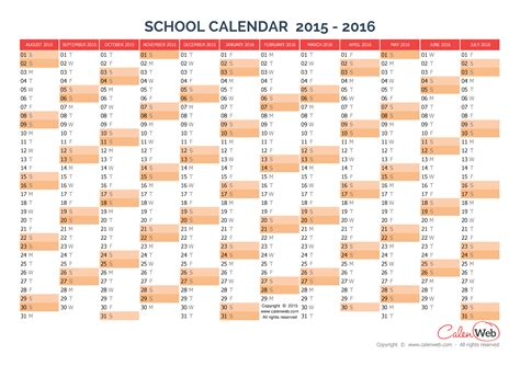 2015 2016 calendar template 2015 2016 yearly school calendar annual school calendar