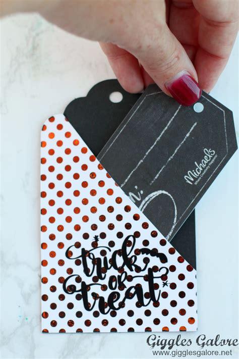 Halloween Gift Cards - diy halloween gift card tags