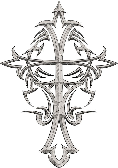 tattoo cross designs free free tribal cross tattoo designs cool tattoos bonbaden