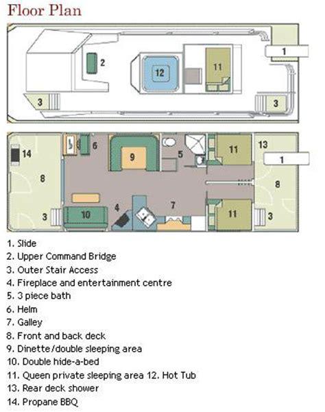 houseboat floor plans 40 foot mirage houseboat