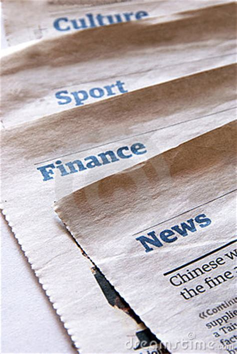 paper sections newspaper sections stock photos image 15580453