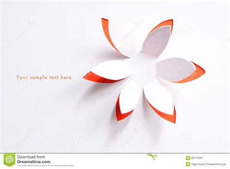 Paper Flowers For Greeting Cards - greeting card with paper flower stock image image of