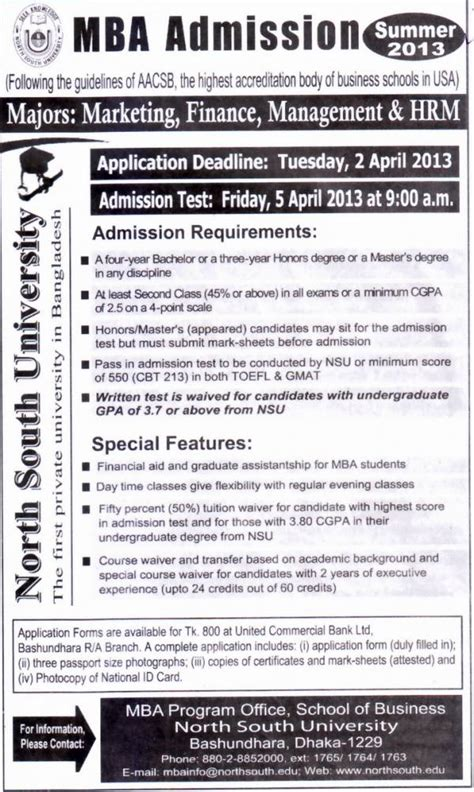 Mba Admission National Bangladesh by All Admission Info Bd South Admission
