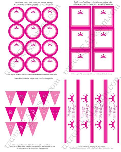 free printable princess birthday decorations free princess party printables fun cheap or free