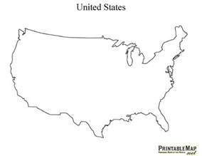 printable united states outline map