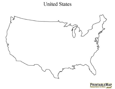 Usa Map States Outline by United States Map Silhouette Pictures To Pin On Pinsdaddy