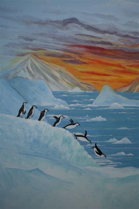 antarctica penguins room mural photo album  robin puckett