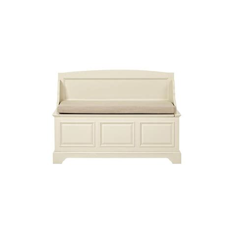 home decorators bench home decorators collection sadie storage ivory bench 9856300440 the home depot