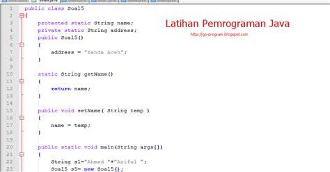 Belajar Pemrograman Populer 3 In 1 Java Vb Dan Php Edy Winarno contoh soal latihan quiz pemrograman java ilmu tekhnologi
