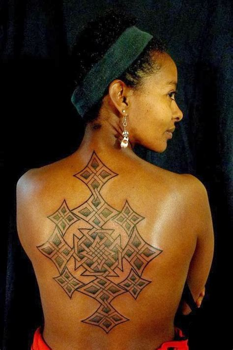 ethiopian cross tattoo coptic cross meskel design