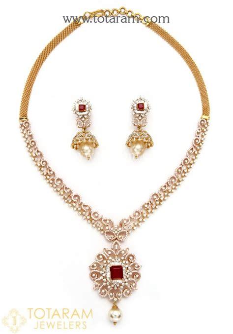 south hill design necklaces 18k rose gold polish 2 in 1 diamond necklace cum pendant