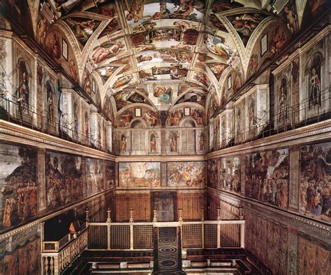 frescoes in the sistine chapel
