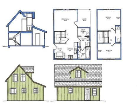 small house blueprints small courtyard house plans small house plans with loft bedroom tiny home plan