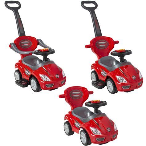Handle Wagon R 1 Kid Ride On 3 In 1 Push Car Toddler Wagon W Handle Horn