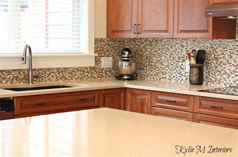 Images Of Kitchen Backsplashes Cream Quartz Countertops Cherry Kitchen Cabinets Small