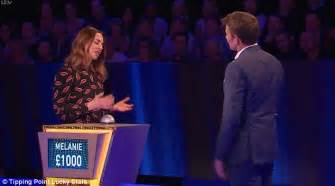 Online Game Shows Win Money - mel c breaks down on the game show tipping point daily mail online