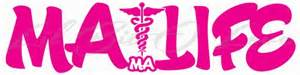 Large White Vases For Sale Ma Life Vinyl Decal Medical Assistant Life Sticker