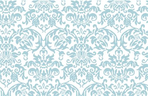 blue elegant pattern elegant damask pattern blue art print by the beezkneez