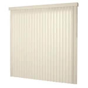 vertical blinds home depot hton bay smooth alabaster 3 5 in pvc vertical blind