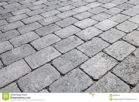 Gray Brick Urban Pavement, Background Texture Stock Photo