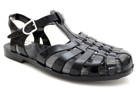 black jelly sandals crafty sandals