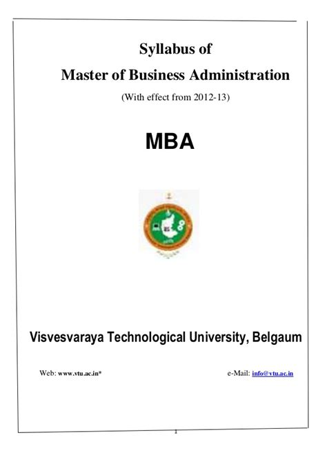 New Mba by New Mba Syllabus