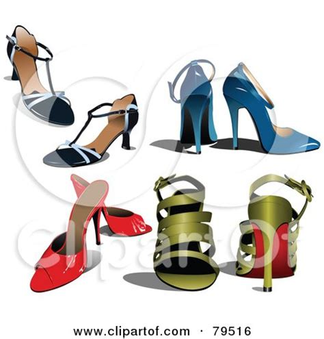 Hdf Sandal Vector Blackblue clipart of high heels royalty free vector illustration by leonid 1221800