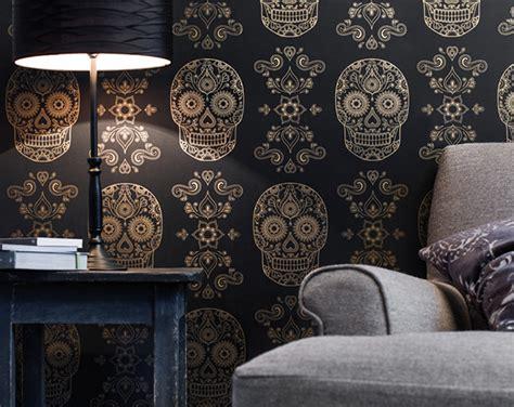 day of the dead home decor mexican day of the dead sugar skull wallpaper 1 design