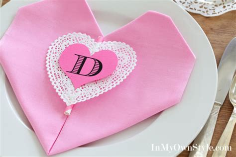 Ideas For Folding Paper Napkins - valentine s table easy shaped napkin fold in my