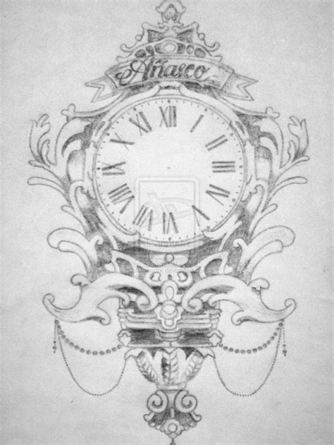 clock tattoo designs tumblr 39 best clock sketches images on clock