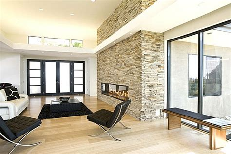 ofen für wohnzimmer kamin design steinwand