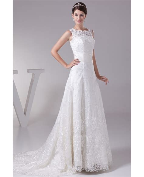 High Wedding Dresses by Of Lace High Neckline Wedding Dress With Corset Back