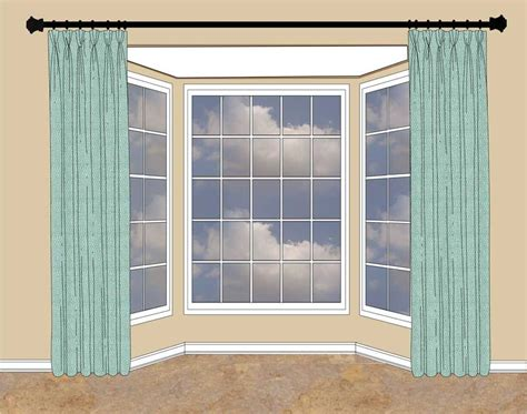 wall of windows curtains when there s wall space on either side of the bay window