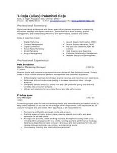 Resume Seo Palanivel Raja Seo Ppc Smo Resume
