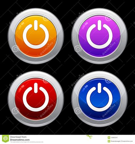 Glossy Power Button Icon Set Power Button Icon Set Eps Royalty Free Stock Photography Image 15662347