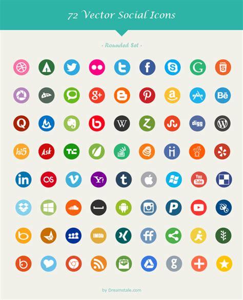 imagenes de redes sociales individuales paquete con 72 iconos de redes sociales en 6 estilos