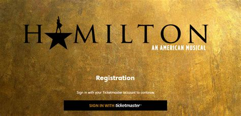 ticketmaster verified fan hamilton in seattle registration ticket master verified fans