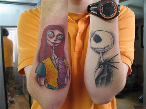 jack and sally couple tattoos 35 nightmare before design