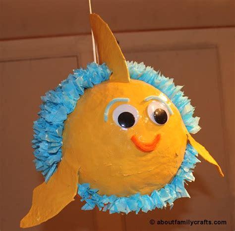 Make Paper Mache Pinata - make a paper mache pinata fish about family crafts