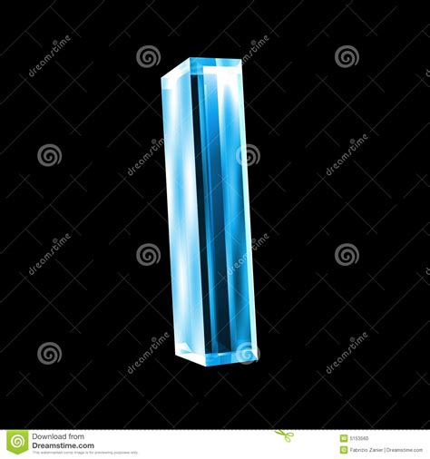 a i letter i in blue glass 3d stock photo image 5153560