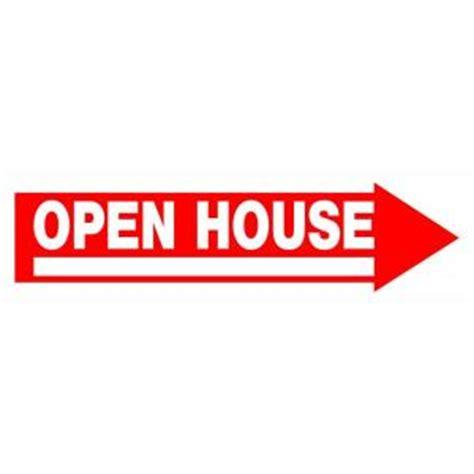 open house signs home depot the hillman group 6 in x 24 in red and white plastic open house sign 842232 the