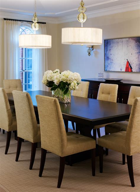 dining room designs with simple and elegant chandilers stunning simple dining room table centerpieces decorating