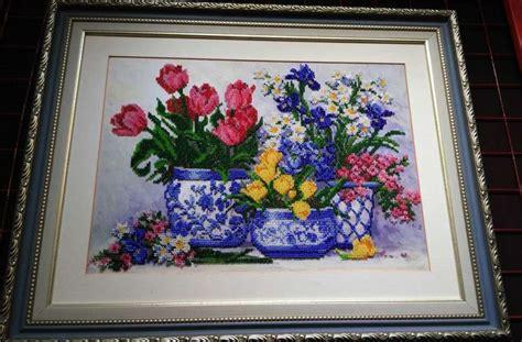 fiori della primavera primi fiori della primavera kit ricamo a perline