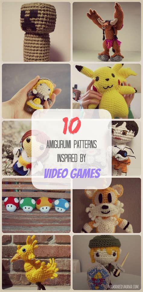 amigurumi patterns video games 10 amigurumi patterns inspired by video games minecraft