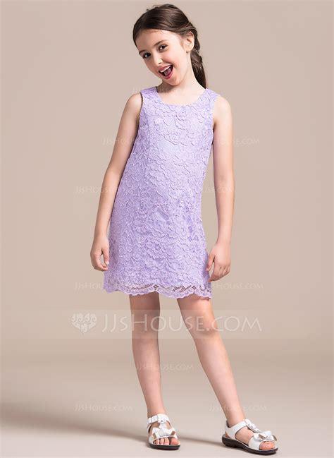 A Line/Princess Scoop Neck Short/Mini Lace Junior