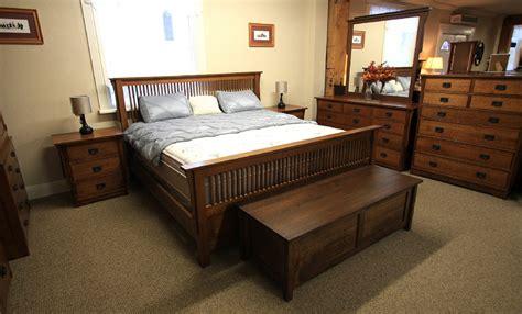 mission  pc oak spindle mennonite bedroom suite lloyds